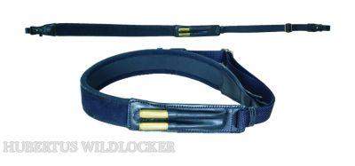 Neopren / Leder Gewehrriemen universal für Büchsen schwarz Art. Nr.HU-170100
