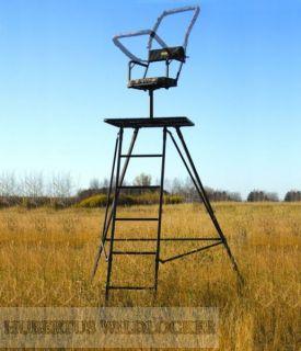 Transportabler Hochsitz 360° drehbarer Sitz Höhe 3 m