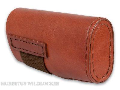 Laufündungschoner Bockdoppelflinten- Leder 12/ 70 Art.Nr. HU-10203