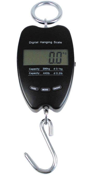 Wildwaage, Elektronische LCD Hängewaage 200 kg digital
