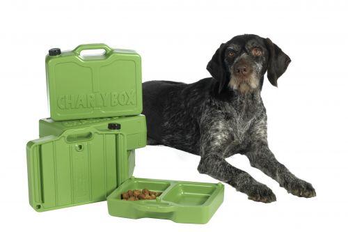 Charlybox ®- Hundereisefutterbox mit int. Wasserkanister