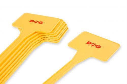 Dog Trace Markierungsfähnchen 8x Fähnchen, DogTrace, gelb