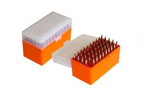 Patronenbox  X LARGE - für Büchsenpatronen orange/ transparent HU-2016401 O/T