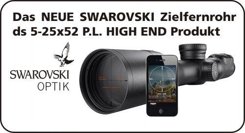 ds 5-25x52 P L  SWAROVSKI Zielfernrohr  mit 40 mm Ringmontage
