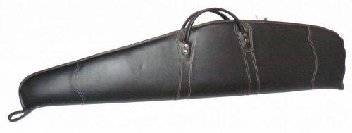 Kunstlederwaffenfutteral braun mit hellen Nähten HU-WF 10041