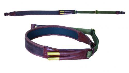 Neopren / Leder Gewehrriemen universal für Büchsen  braun  Art. Nr.  170103