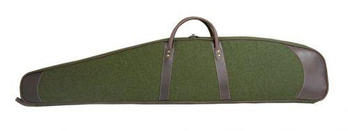 Premium Loden-Lederwaffenfutteral inkl. Lodenpatronenetui