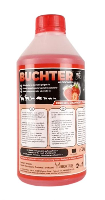 ERDBEERE – SRAWBERRY - Wildlockmittel Konzentrat 1 kg Flasche / Art. Nr. BU-18011