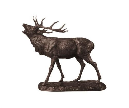 Bronzeplastik Rothirsch