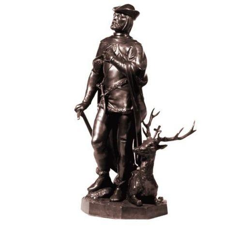 Bronzeplastik heiliger Hubertus