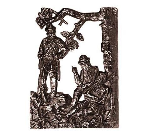 Bronzeschild mit Jagdmotiv