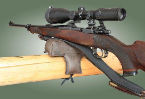 Waffenauflagekissen / Gewehrauflage  Leder mit Schnürung