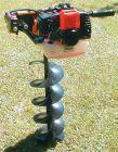 Erdlochbohrer m. 2,0 PS Motor + Bohrer 10, 15 oder 20 cm