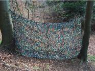Sparset Ansitzleiter 3 m aus Hightech ALU grün  inkl. Tarnnetz 2x3m