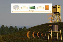 Wildbewegungsmelderset-Hunting Alarm / Doppel Set mit 2 IR Bewegungsmelder mit Vibrationsarlarm HU-0003
