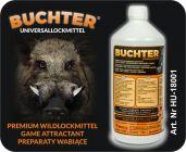HUBERTUS-BUCHTER PFLAUME- AROMA Wildlockmittel Konzentrat 1 kg Flasche / TOP - EFFEKT AN DER  KIRRUNG Art. Nr. BU-18002