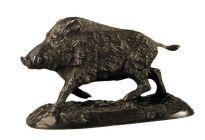 Bronzeplastik Keiler laufend