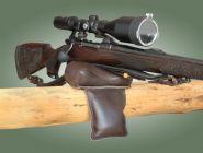 Waffenauflagekissen- Gewehrauflage- Leder