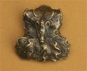 Keilerwaffenabdeckungen  Eichenlaub Bronzeguss HU-BR60B
